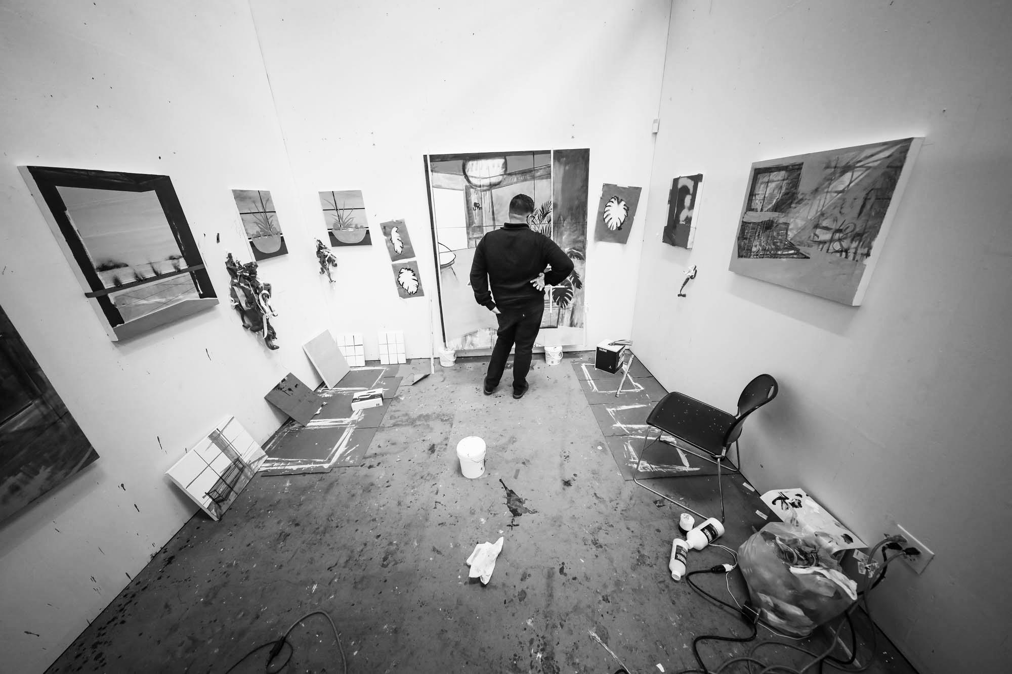 Erik Parra Studio Visit for Liquitex photographed by Michael Cuffe